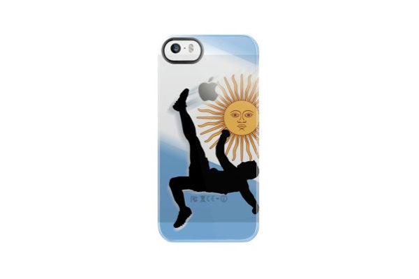 Uncommon Fussball Back-Cover für iPhone 5/5S/SE, Argentinien