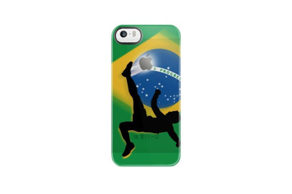 Uncommon Fussball Back-Cover für iPhone 5/5S/SE, Brasilien