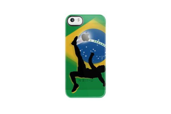 Uncommon Fussball Back-Cover für iPhone 5/5S/SE, Brasilien