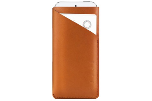 Mujjo Understated Collection Slim Fit iPhone 5/5S/SE Wallet, braun