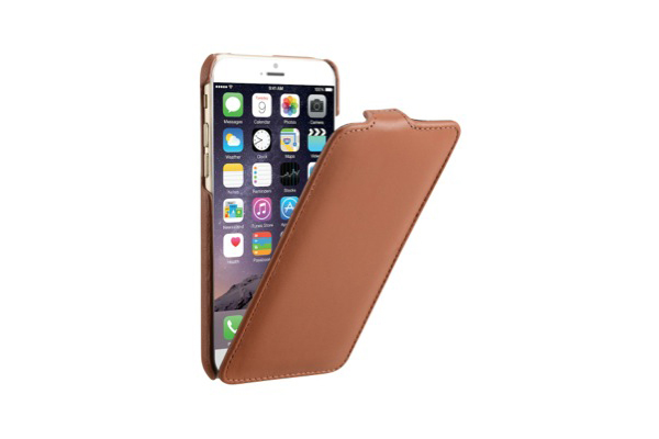 Decoded Premium Leder Flipcase für iPhone 6/6S, braun