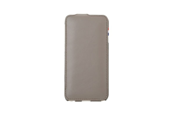 Decoded Premium Leder Flipcase für iPhone 6/6S, grau