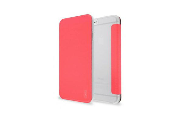 Artwizz SmartJacket · Elegante Hülle mit Frontcover für iPhone 6/6S, pink