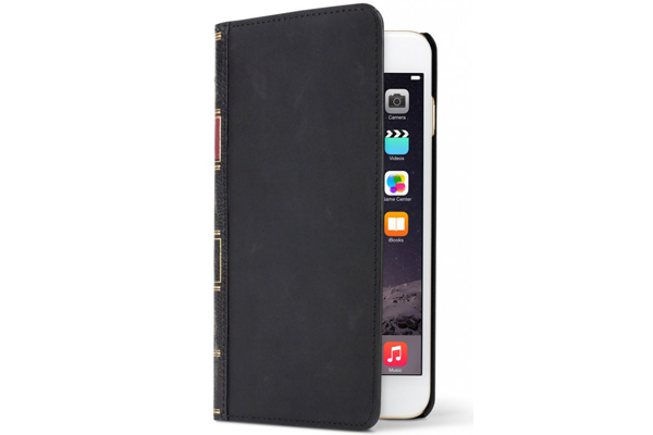 Twelve South BookBook - Vintage Leather Case + Wallet für iPhone 6/6S, schwarz