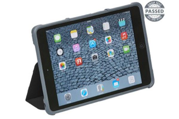 """STM Dux - Shock resistentes Case (2m) mit pat. Schliess- und Standfunktion für iPad Air 2/iPad Pro 9.7"""", schwarz"""
