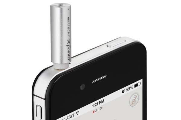 Satechi X-Pointer - Genialer Laserpointer für Ihr iPhone mit der Möglichkeit Präsentationen und Maus Ihres Macs zu steuern