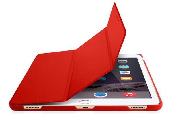 """Macally Bookstand - Hochwertige Schutzhülle mit Stand- und Sleep-/Wakefunktion für iPad Pro 12.9"""", rot"""