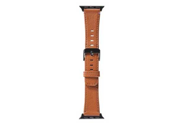Decoded Leather Strap - Edles Armband aus Echtleder für Apple Watch (38mm), braun