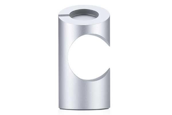 Just Mobile TimeStand - Eleganter Ladeständer aus Aluminium für Apple Watch, silber
