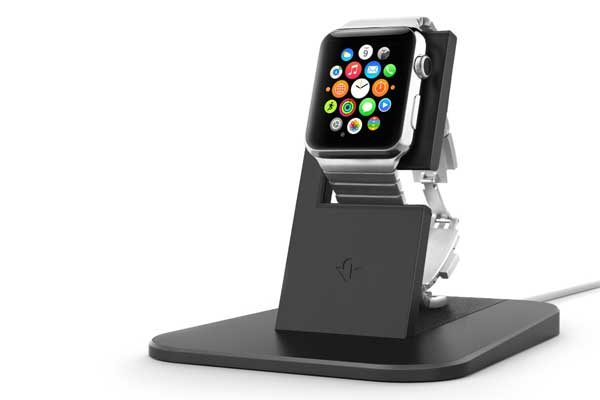 Twelve South HiRise - Eleganter Ladeständer für Apple Watch, schwarz