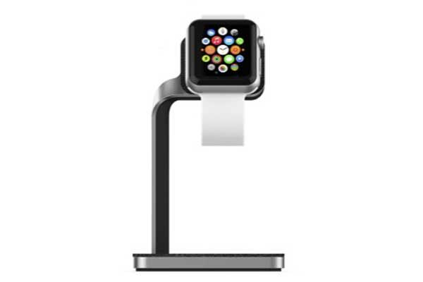 Mophie Apple Watch Dock - Eleganter Ladeständer für Apple Watch, schwarz-silber