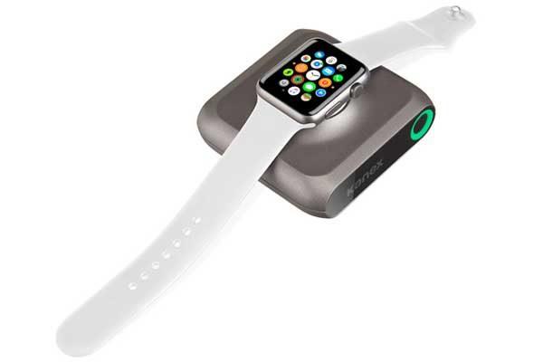 Kanex GoPower Watch - Portable Batterie mit 4'000mAh ladet die Apple Watch sowie das iPhone gleichzeitig, schwarz