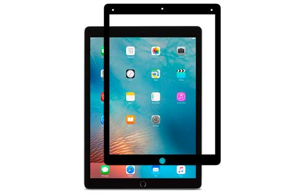 "Moshi iVisor AG - Anti-Glare Screen Protector für iPad Pro 12.9"", Anti-Bubble & Washable, schwarzer Rahmen"