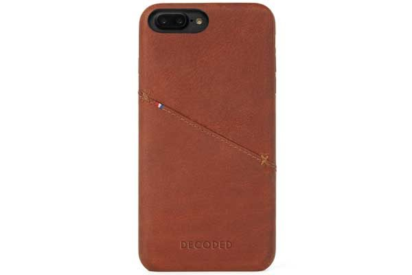 Decoded Premium Leder Backcover für iPhone 7 Plus, braun