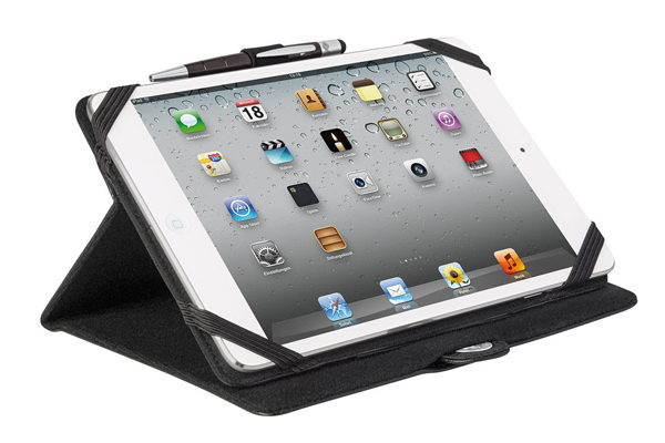 WEDO iPad Mini / Mini 2 Case TRENDSET mit Touch Pen 2-in-1, schwarz