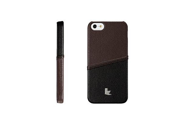 Jisoncase Fashion Strip Case iPhone 5/5S/SE, schwarz-braun