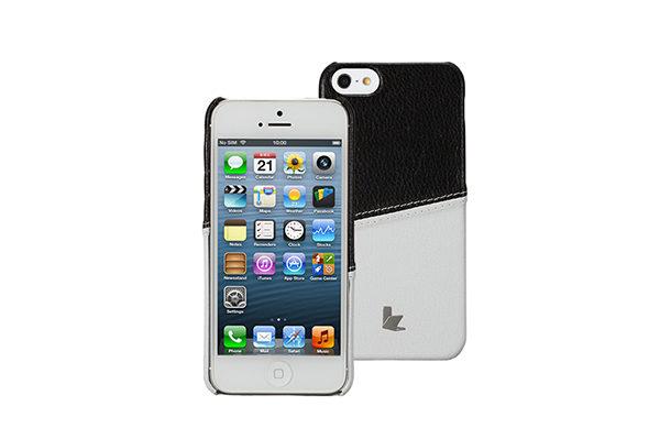 Jisoncase Fashion Strip Case iPhone 5/5S/SE, schwarz-weiss