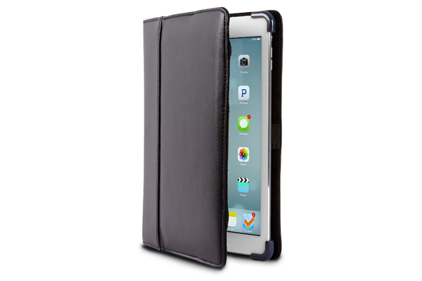 Maroo KOPE iPad Air/Air 2 Protecitve Leder-Case mit Sleep/Wake Funktion, schwarz