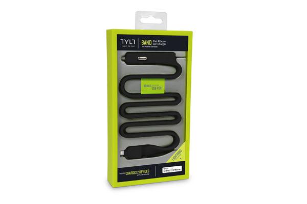 TYLT BAND Car Charger für iPhones/iPads mit Lightning-Anschluss, schwarz