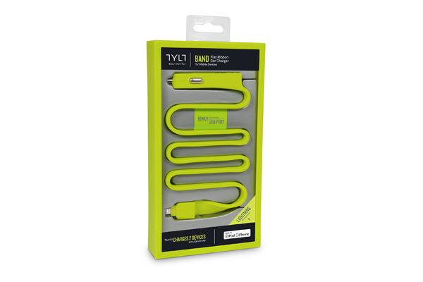TYLT BAND Car Charger für iPhones/iPads mit Lightning-Anschluss, grün