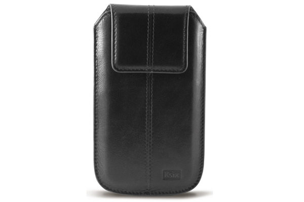 Ksix Leder-Case Gold Collection für iPhone 5/5S/5C/SE, schwarz