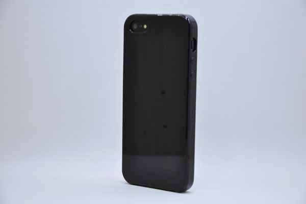 iPhone 5/5S/SE Silikon-Back-Cover, schwarz