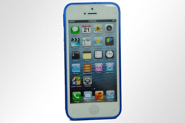 Bridge94 iPhone 5/5S/SE Ultradünner Alu-Bumper, dunkelblau