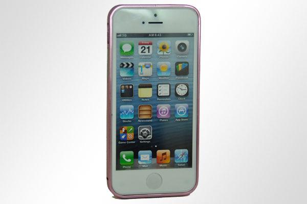 Bridge94 iPhone 5/5S/SE Ultradünner Alu-Bumper, rosa
