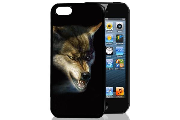 Bridge94 iPhone 5/5S/SE 3D-Back-Cover, Wolf