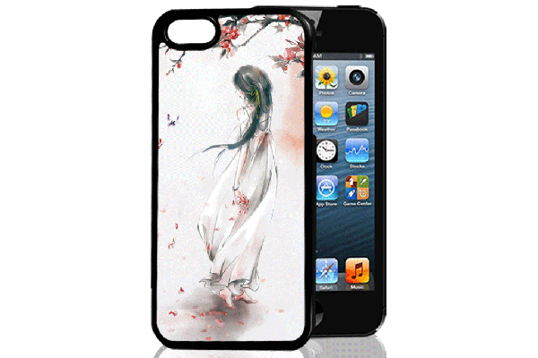 Bridge94 iPhone 5/5S/SE 3D-Back-Cover, Frau Asien