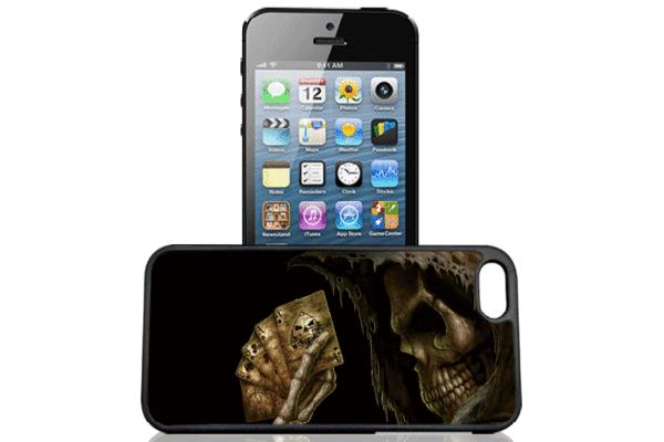 Bridge94 iPhone 5/5S/SE 3D-Back-Cover, Skelett jassend