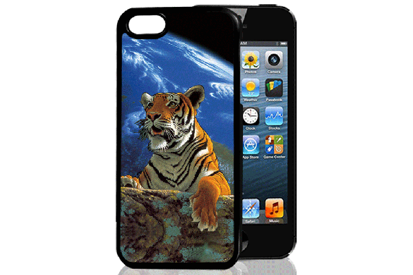 Bridge94 iPhone 5/5S/SE 3D-Back-Cover, Tiger