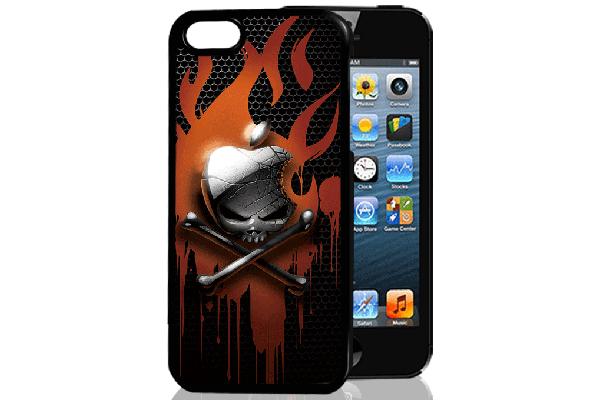 Bridge94 iPhone 5/5S/SE 3D-Back-Cover, Totenkopf Apfel