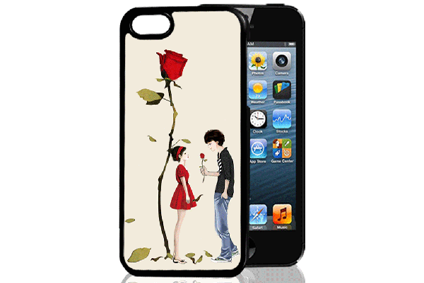 Bridge94 iPhone 5/5S/SE 3D-Back-Cover, Romantik & Rose
