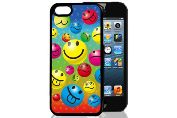 Bridge94 iPhone 5/5S/SE 3D-Back-Cover, Smileys & Herzen
