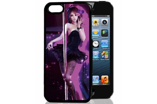 Bridge94 iPhone 5/5S/SE 3D-Back-Cover, Cartoon Frau tanzend