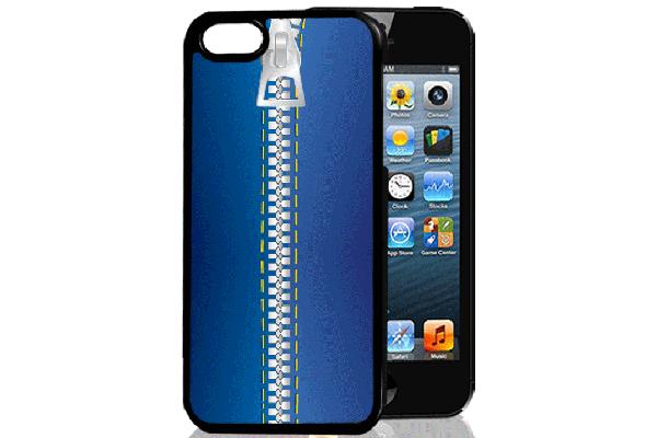 Bridge94 iPhone 5/5S/SE 3D-Back-Cover, Reissverschluss & brennende nackte Frau