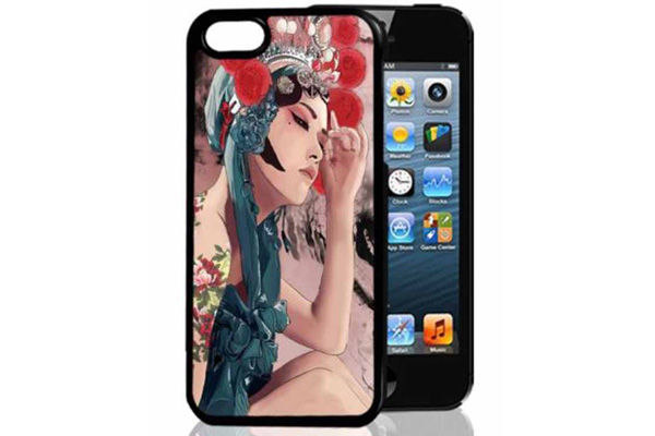 Bridge94 iPhone 5/5S/SE 3D-Back-Cover, Cartoon Frau