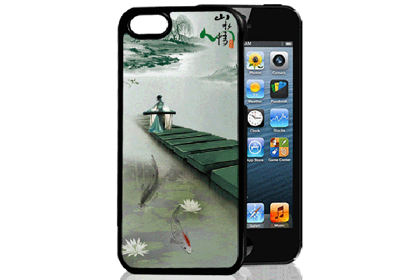 Bridge94 iPhone 5/5S/SE 3D-Back-Cover, China & Steg