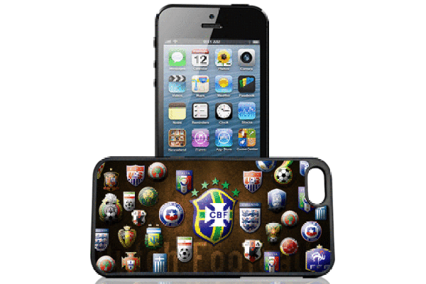 Bridge94 iPhone 5/5S/SE 3D-Back-Cover, Fussball-Clubs
