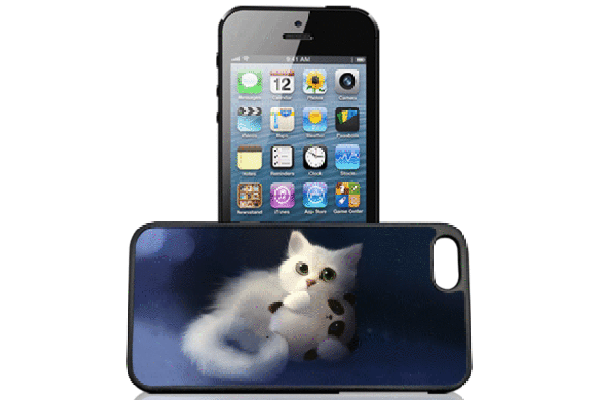 Bridge94 iPhone 5/5S/SE 3D-Back-Cover, Cartoon & Katze