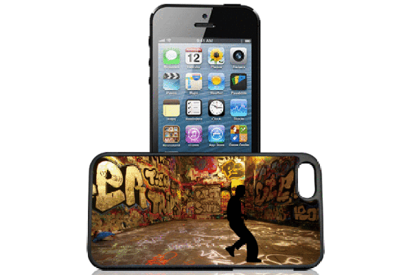 Bridge94 iPhone 5/5S/SE 3D-Back-Cover, Breakdance