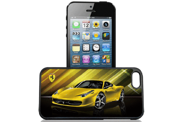 Bridge94 iPhone 5/5S/SE 3D-Back-Cover, Ferrari gelb