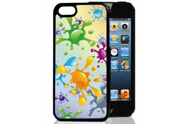 Bridge94 iPhone 5/5S/SE 3D-Back-Cover, Farbklekse