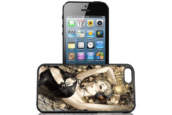 Bridge94 iPhone 5/5S/SE 3D-Back-Cover, Cartoon Frau liegend