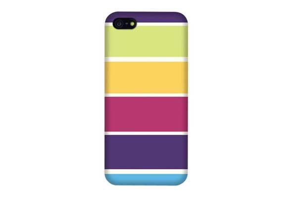 iPhone 5/5S/SE Stipe-Back-Cover, farbig