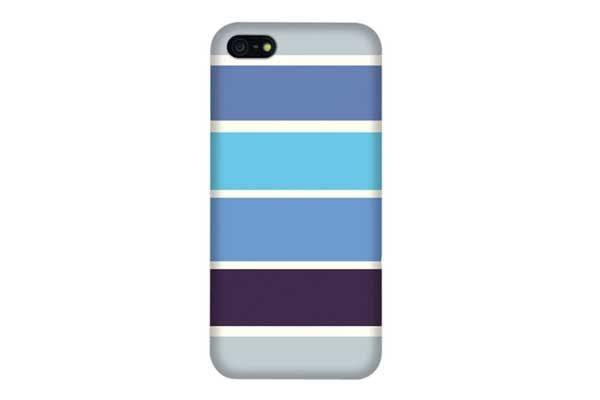 iPhone 5/5S/SE Stipe-Back-Cover, blau