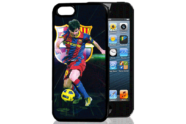 Bridge94 iPhone 5/5S/SE 3D-Back-Cover, Fussball & Messi