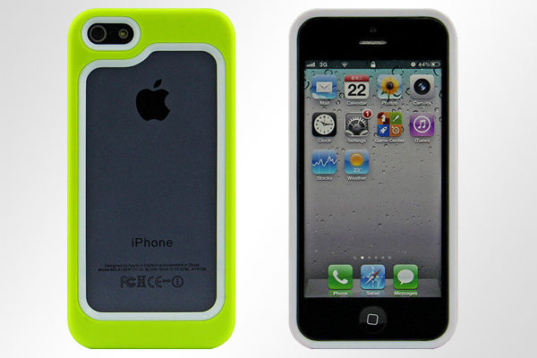 Bridge94 iPhone 5/5S/SE Hybrid-Bumper, grün-weiss