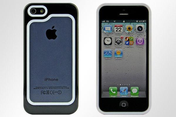 Bridge94 iPhone 5/5S/SE Hybrid-Bumper, schwarz-weiss